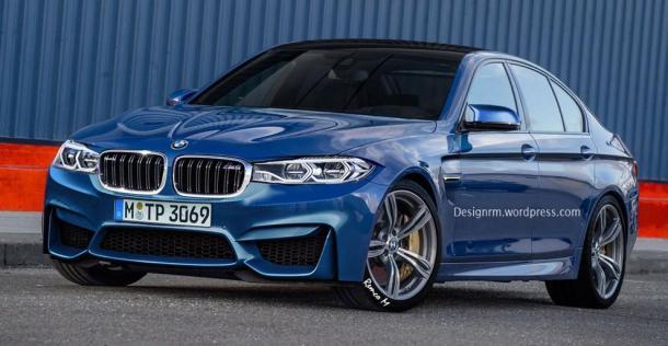 BMW M5 2018 - wizualizacja