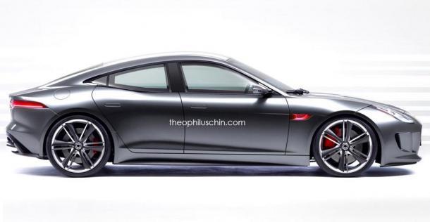 Jaguar F-Type jako limuzyna - wizualizacja