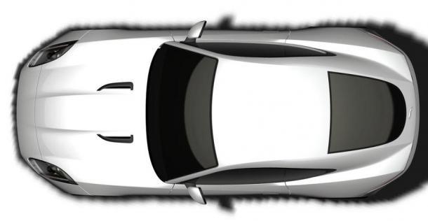 Jaguar F-Type Coupe - szkic patentowy