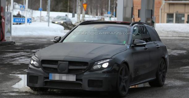 Mercedes C63 AMG kombi 2015 - zdjęcie szpiegowskie