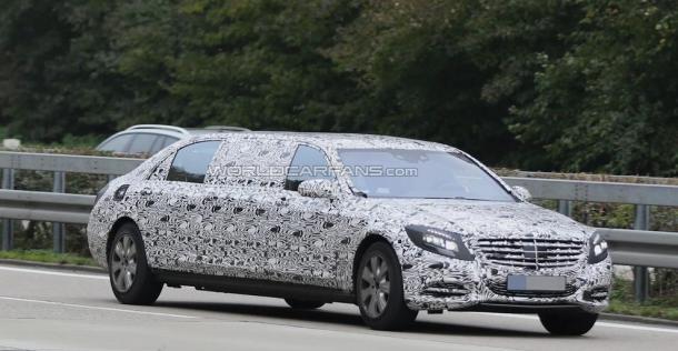 Mercedes klasy S Pullman - zdjęcie szpiegowskie