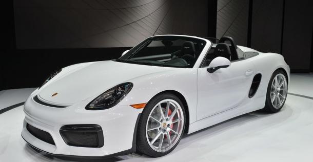 Porsche Boxster Spyder - New York Auto Show 2015
